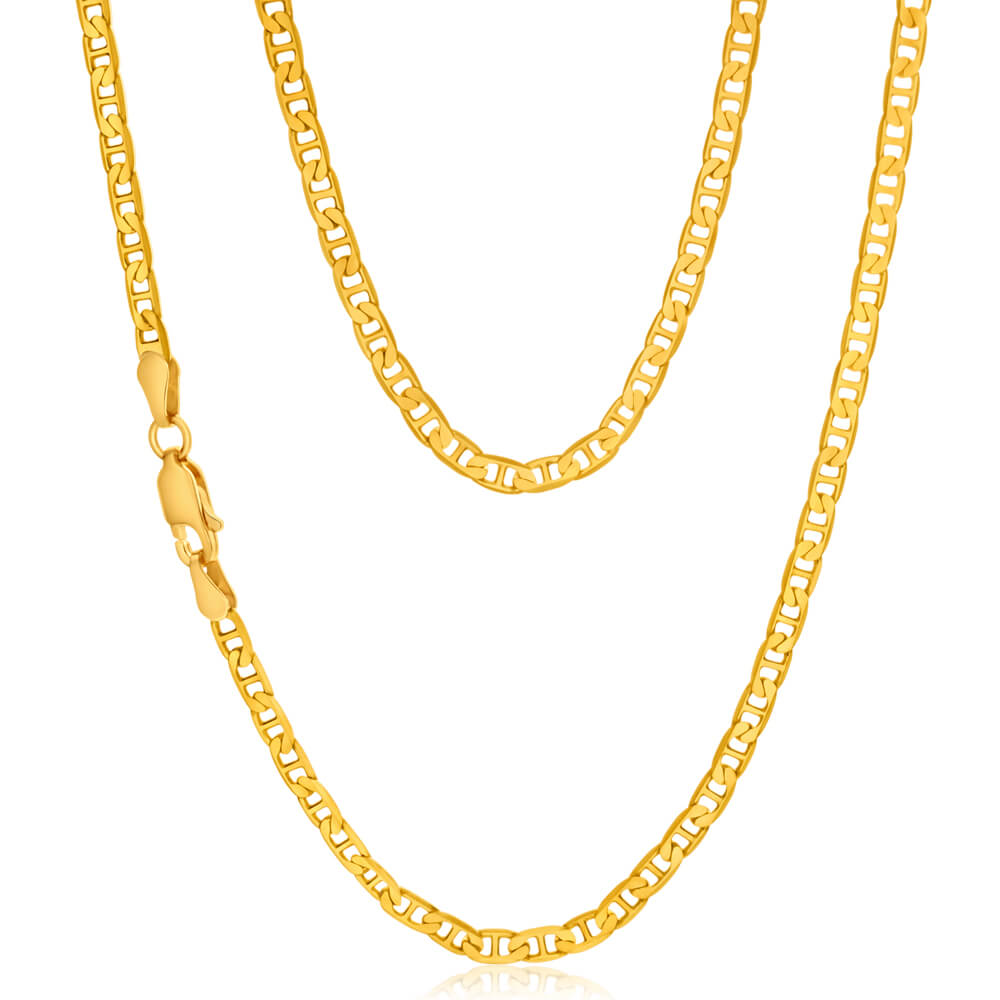 9ct Yellow Gold Anchor Chain - 80 Gauge
