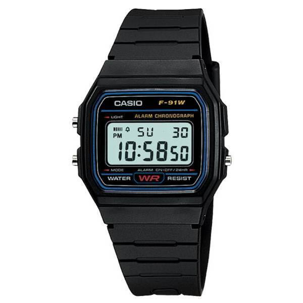 CASIO MENS DIGITAL WATCH F91W-1