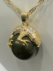 18ct Gold Plated Faux Pearl Pendant - 11