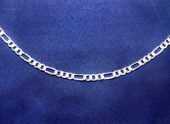 Sterling Silver FBSFD150 Flat Bevelled Figaro 1/3 Chain