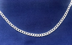 Sterling Silver FBSCD150 Flat Bevelled Diamond Cut Curb Link Chain