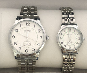 His & Hers Stainless Steel Dress Watch Set - 02