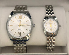 His & Hers Stainless Steel Dress Watch Set - 03