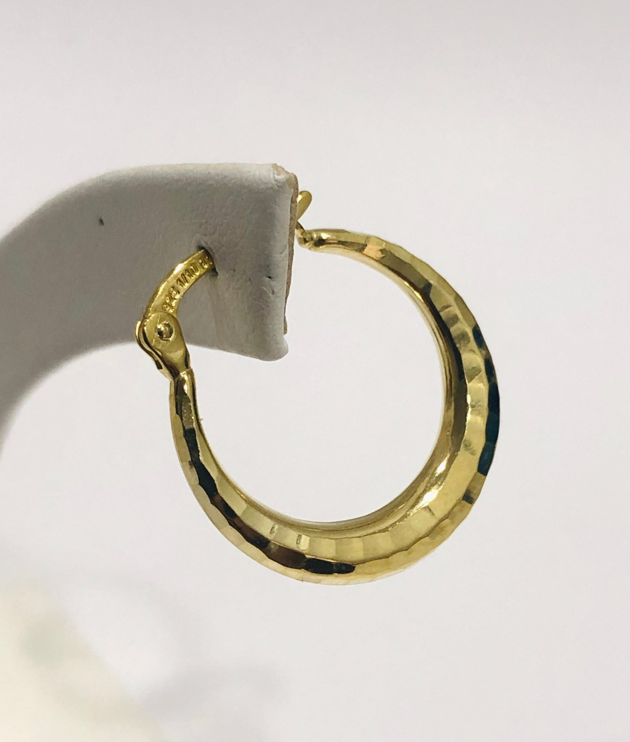 9ct Yellow Gold Silver Filled Polished 19mm Hoop Earrings