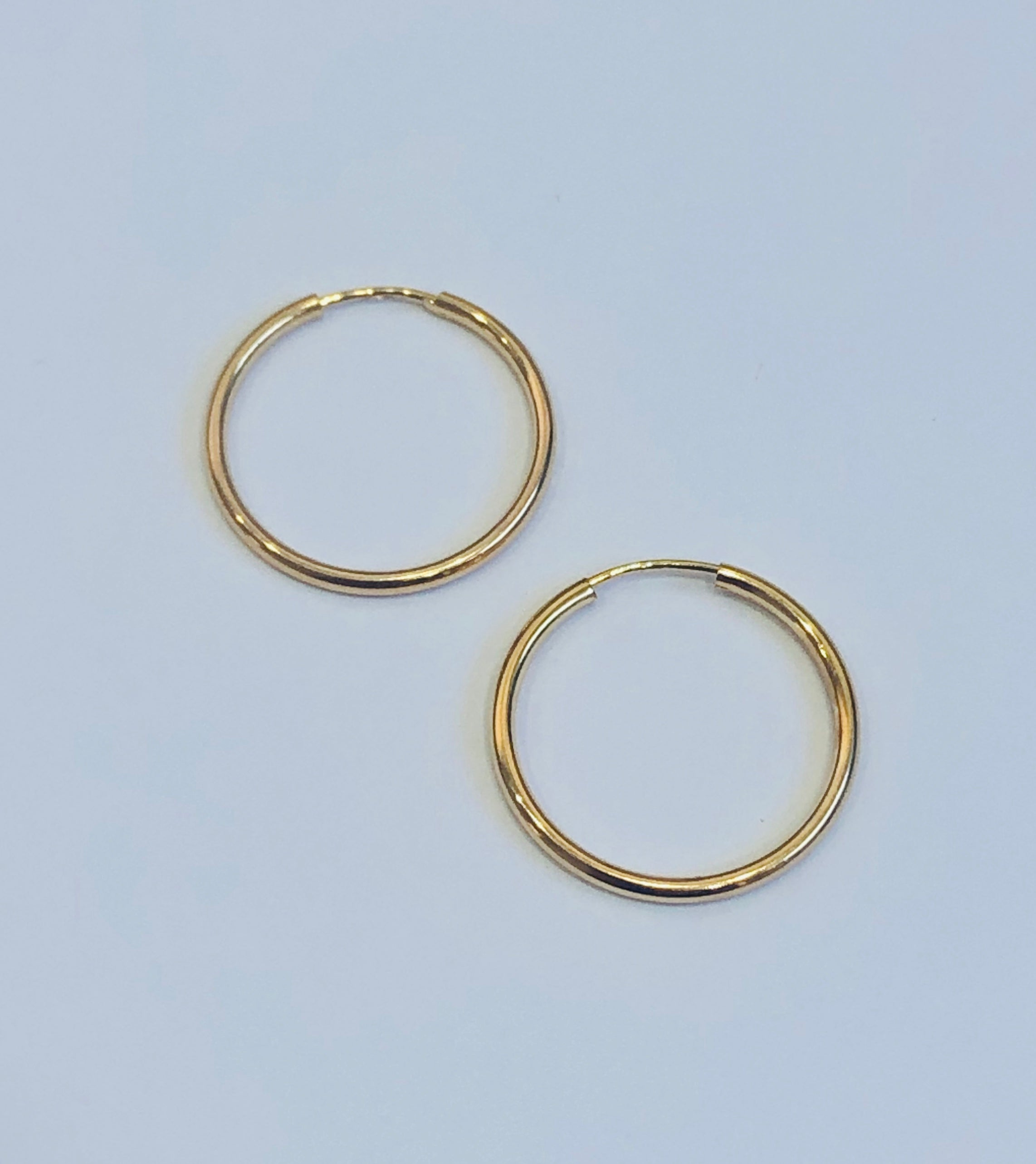 9ct Gold Hoop Polished Earrings 16mm x 1.5mm - 008