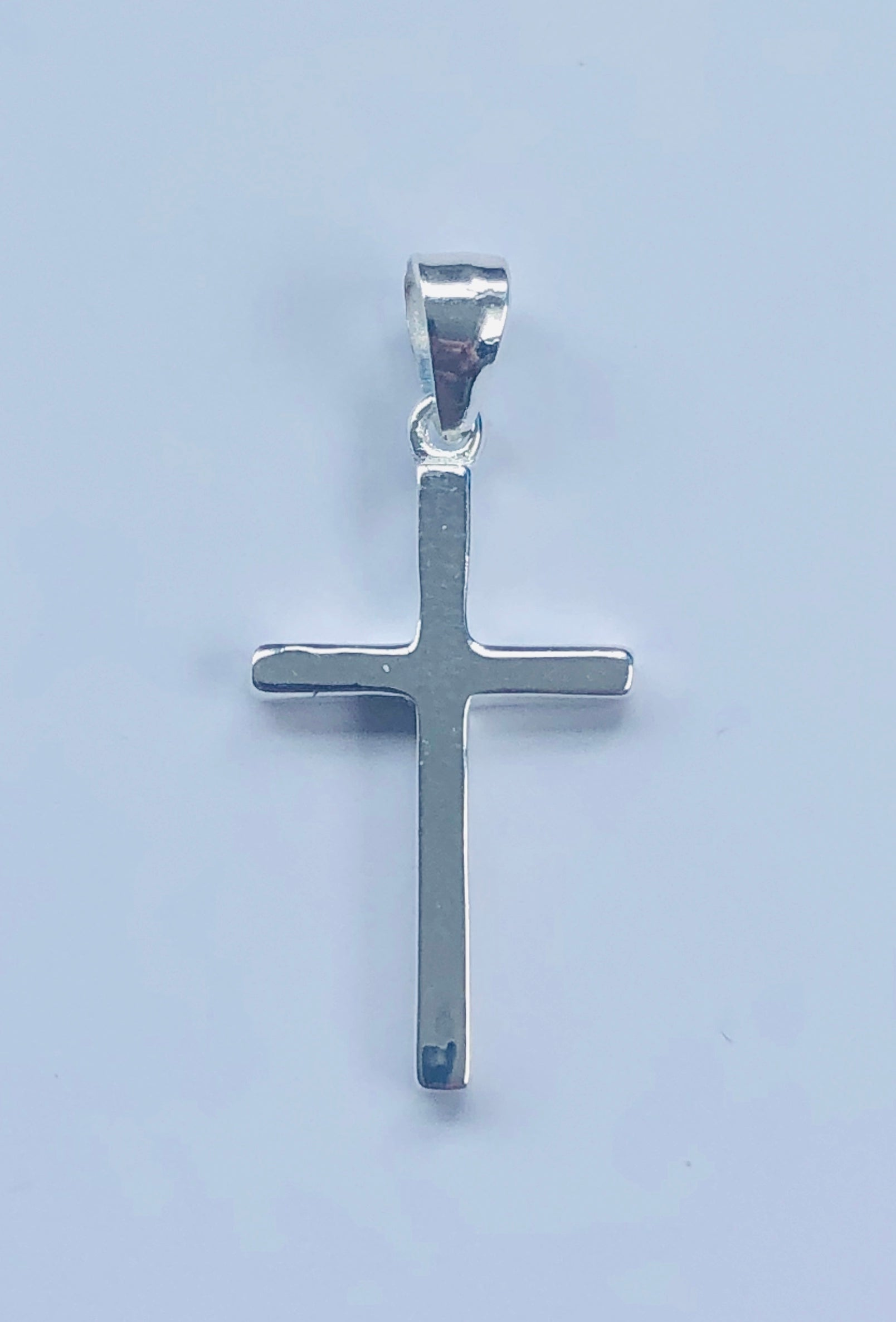 Sterling Silver Cross Pendant 28mm x 13mm - 006