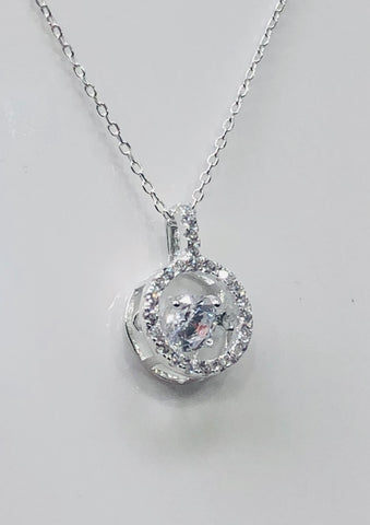 Sterling Silver Pendant With Silver Chain - 022