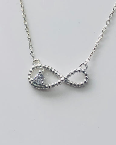 Sterling Silver Infinity pendant With Silver Chain - 023