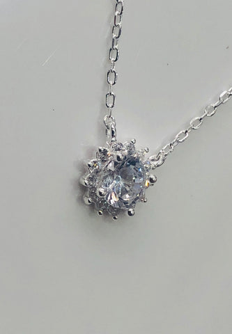Sterling Silver Pendant With Silver Chain - 025