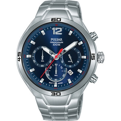 EXCLUSIVE PULSAR PT3A37X CHRONOGRAPH STAINLESS STEEL MENS WATCH