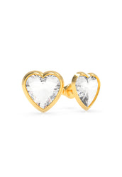 GUESS HEART STUD EARRINGS - UBE70040