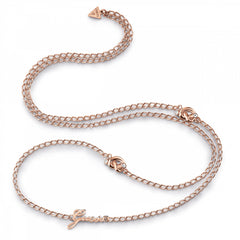 GUESS Small Chain Knot Necklace UBN29017