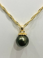 18ct Gold Plated Faux Pearl Pendant - 07