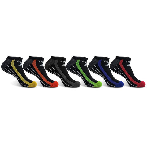 <b>6-PAIRS</b><br>Elite III Performance Low-Cut Cushion Socks