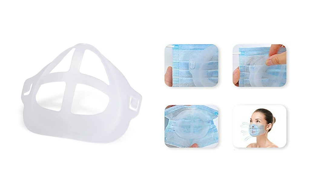 TheraRx 3D Internal Support Bracket for Face Mask Comfortable Breathing - White (5-Pack)