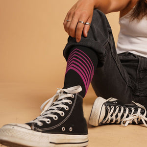 Ultra V-Striped COMPRESSION SOCKS