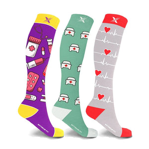 LIFE-SAVERS COMPRESSION SOCKS (3-PAIRS)