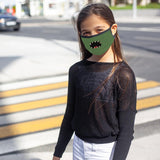 SCARY FACED - Kid's Reusable Dual Layer Face Mask , Non-Medical