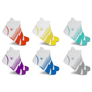 WHITE EDITION ULTRA V-STRIPED COMPRESSION SOCKS (6-PAIRS)