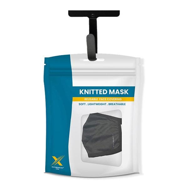 Extreme Fit Black - Reusable & Washable 2-Layer Cloth Masks (3-Pack)