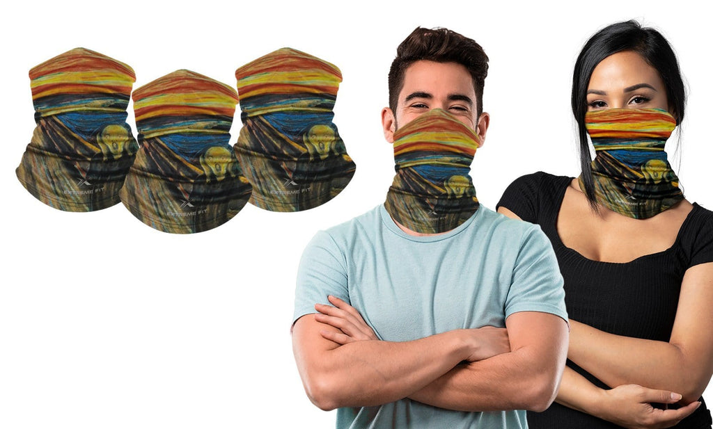 3-Pack: Headband, Bandanas, Scarf, Neck Warmer, Head Wrap, Multi Functional Gaiter for Sports or Everyday Wear