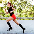 RUN+ BLK/GRY/WHT COMPRESSION SOCKS (3-PAIRS)