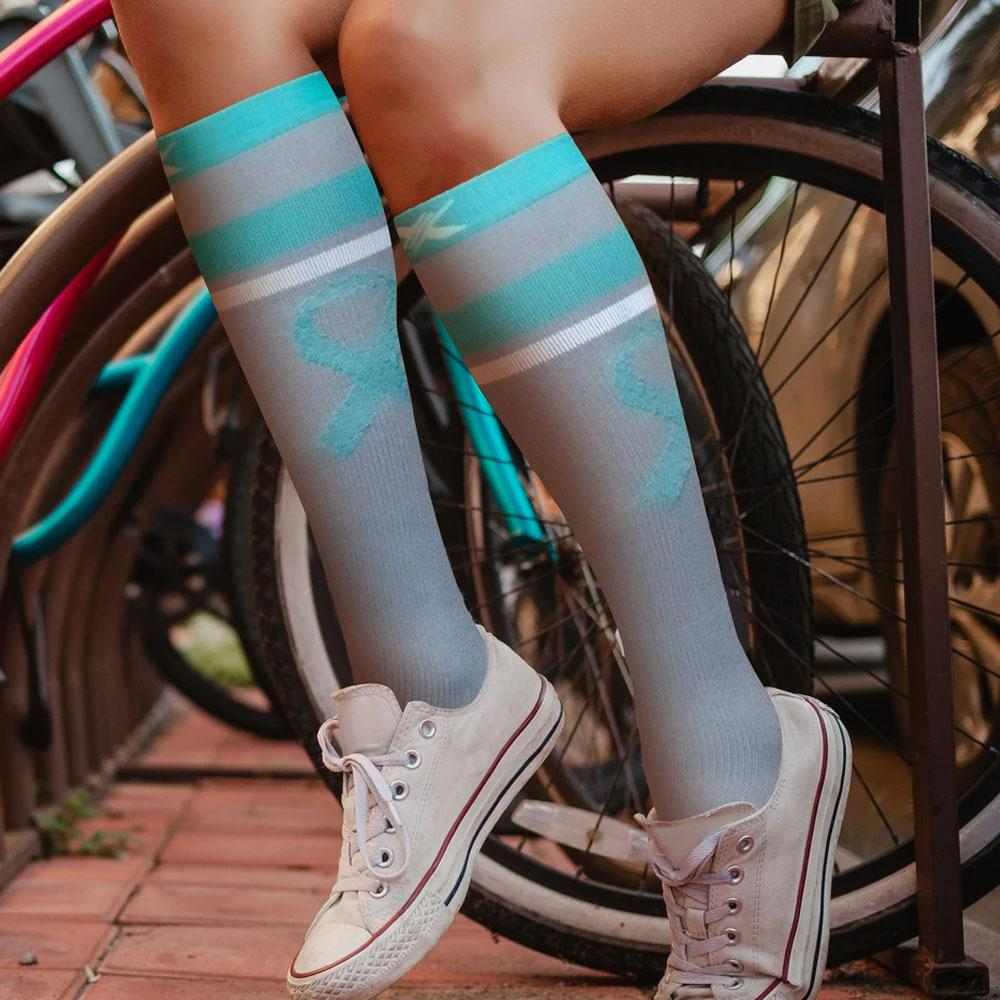 OVARIAN CANCER AWARENESS COMPRESSION SOCKS (3-PAIRS)