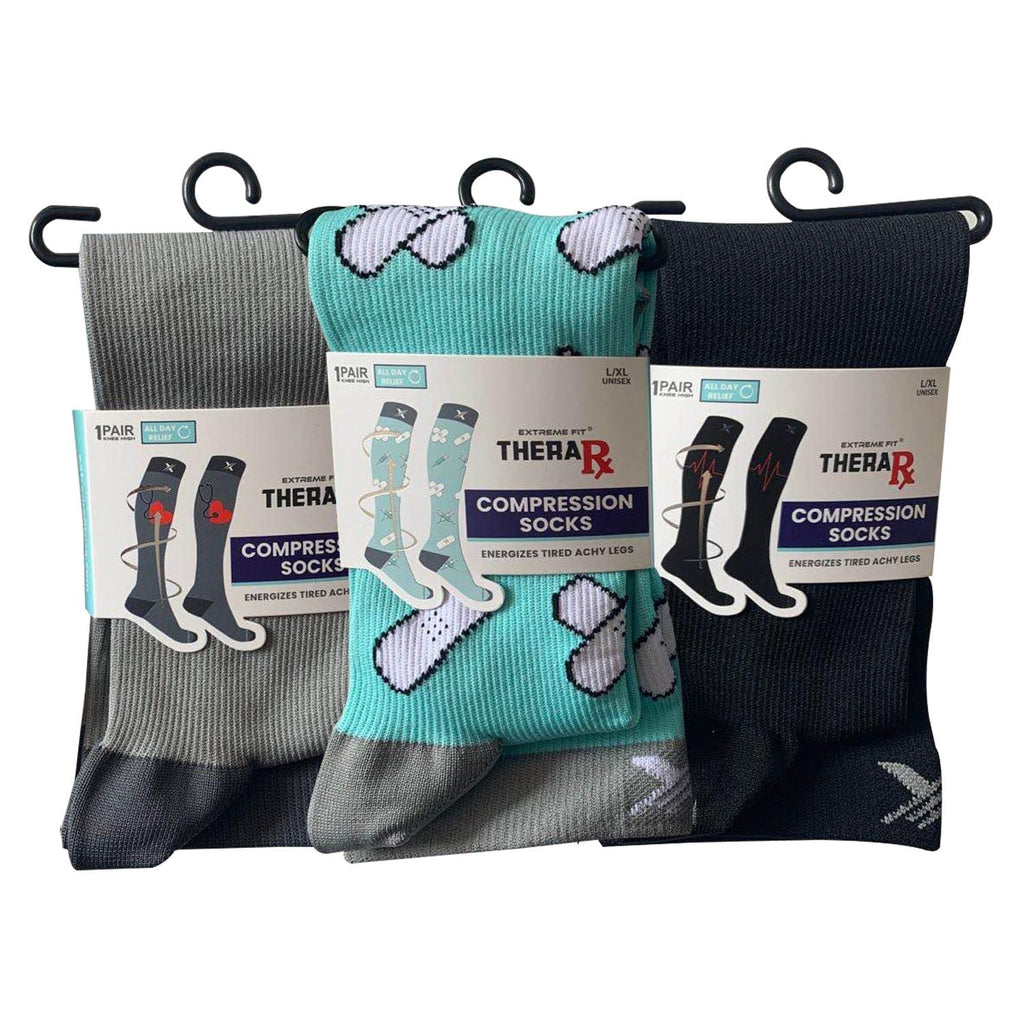 THERA RX COMPRESSION SOCKS (3-PAIRS)