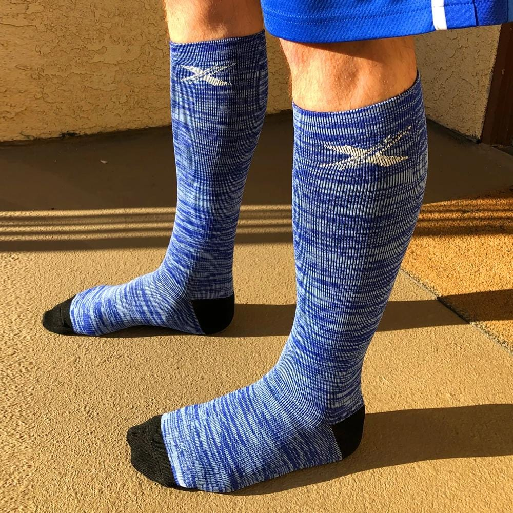 SPACE DYE COMPRESSION SOCKS (6-PAIRS)
