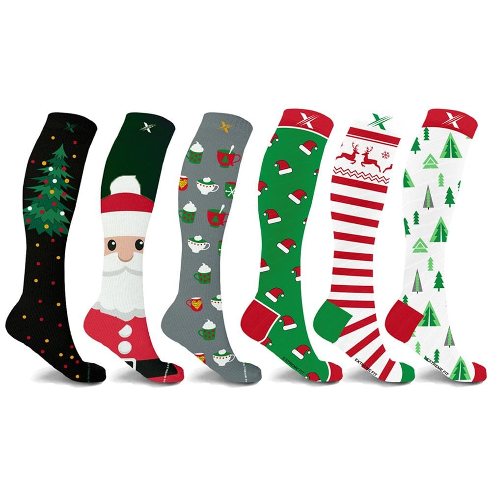 HOLIDAY COLLECTION COMPRESSION SOCKS (6-PAIRS)