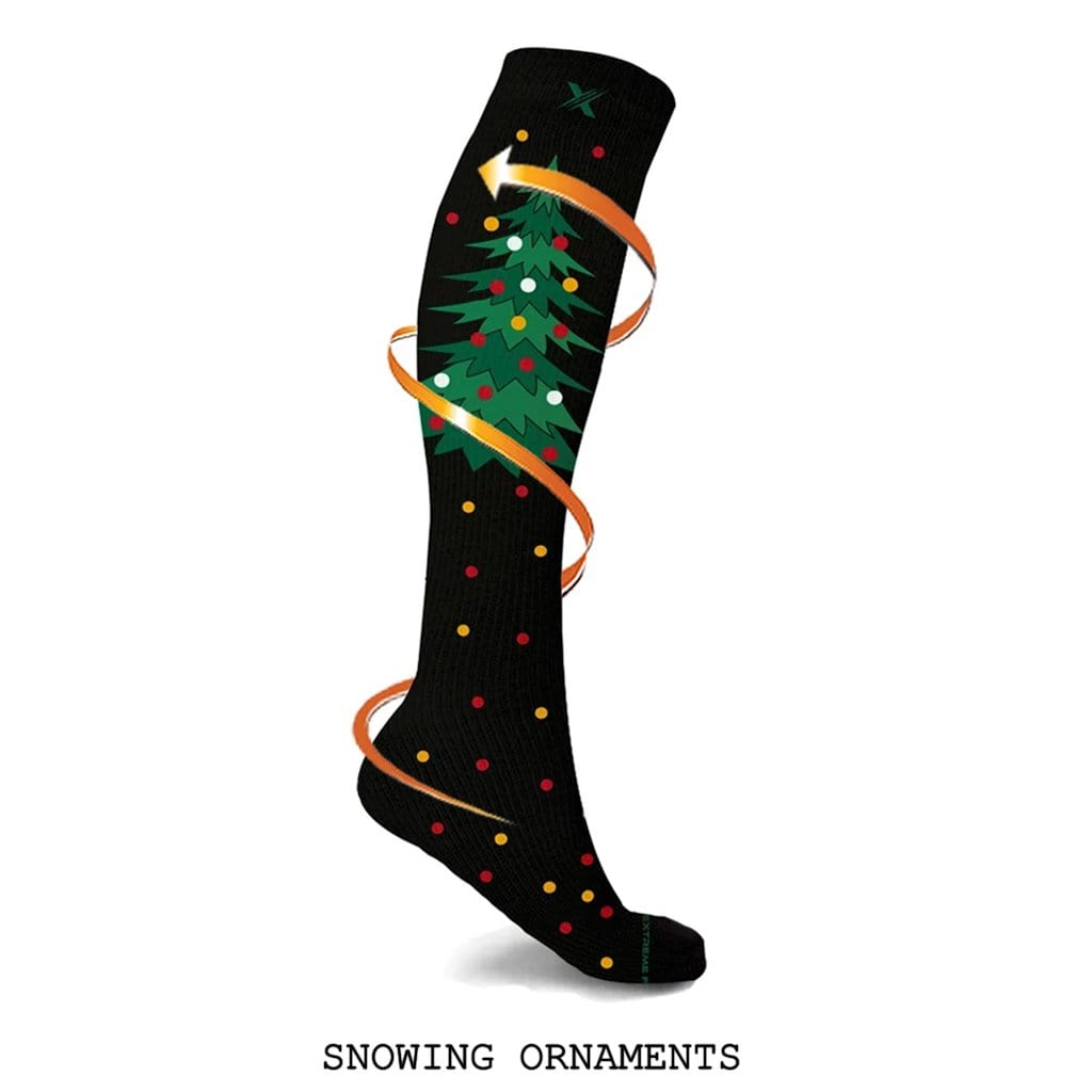 CHRISTMAS PARTIES COMPRESSION SOCKS (3-PAIRS)