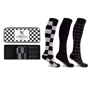 MEN'S STARTER COMPRESSION SOCKS // BLACK