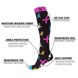 MEDICAL PRINTS COMPRESSION SOCKS (6-PAIRS)