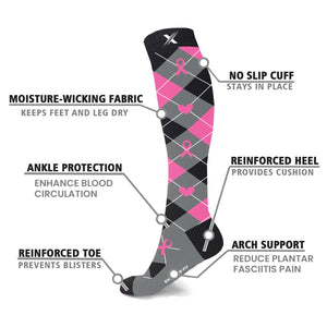 BCA HOPE & LOVE COLLECTION COMPRESSION SOCKS (3-PAIRS)