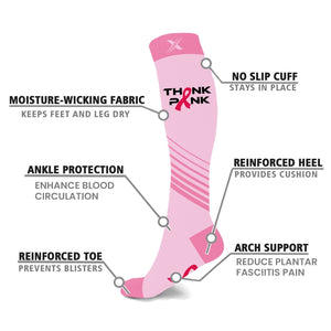 BCA THINK PINK COLLECTION COMPRESSION SOCKS (3-PAIRS)