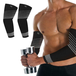 Ultra-V Striped Compression Elbow Sleeves