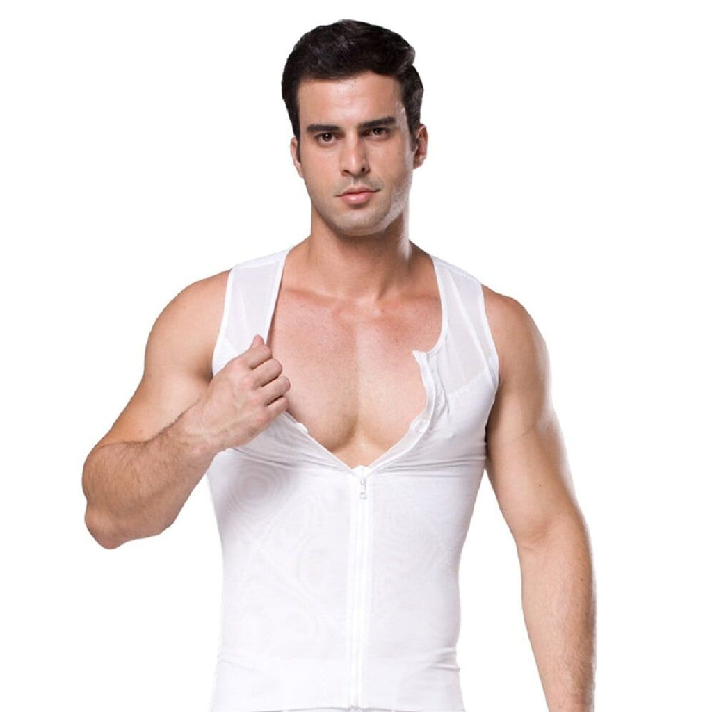 Men's Compression Zipper Tank Top