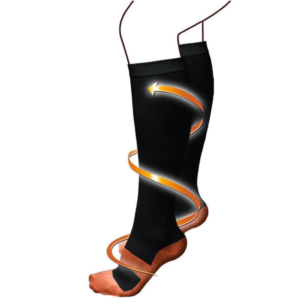 COPPER FLUX™ Pain-Relief Compression Socks (6-Pairs)