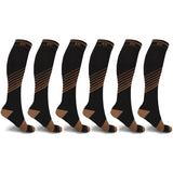 COPPER FLUX™ ENERGIZING COMPRESSION SOCKS (6-PAIRS)