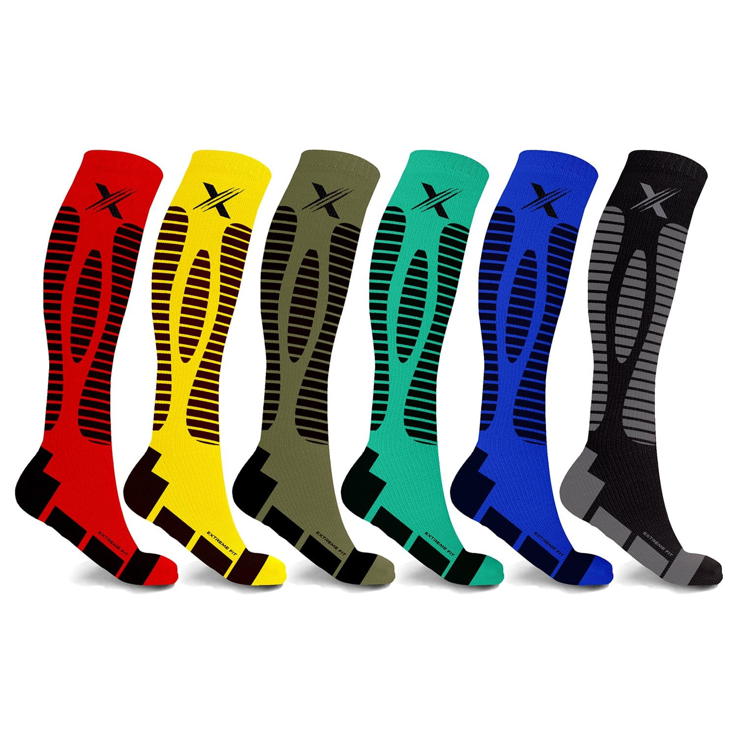 KINGSTON COMPRESSION SOCKS (6-PAIRS)