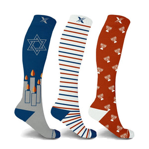HOME FOR THE CHALLAH-DAYS COMPRESSION SOCKS (3-PAIRS)