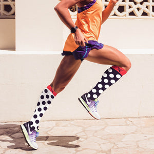 mmV2 POLKA DOTS COMPRESSION SOCKS