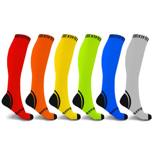 BOLD COLORS COMPRESSION SOCKS (6-PAIRS)
