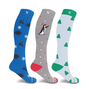 SECRET SANTA COMPRESSION SOCKS (3-PAIRS)