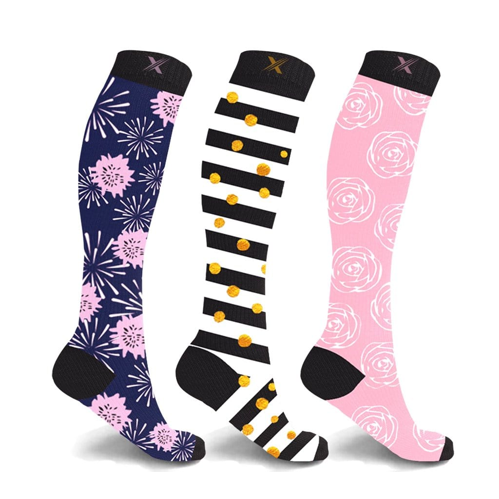 KYLIE & KATE COMPRESSION SOCKS (3-PAIRS)