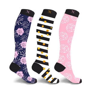 KYLIE & KATE COLLECTION COMPRESSION SOCKS (3-PAIRS)
