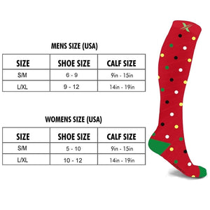 HAPPY HOLIDAYS COMPRESSION SOCKS