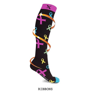 HEARTS & RIBBONS COMPRESSION SOCKS