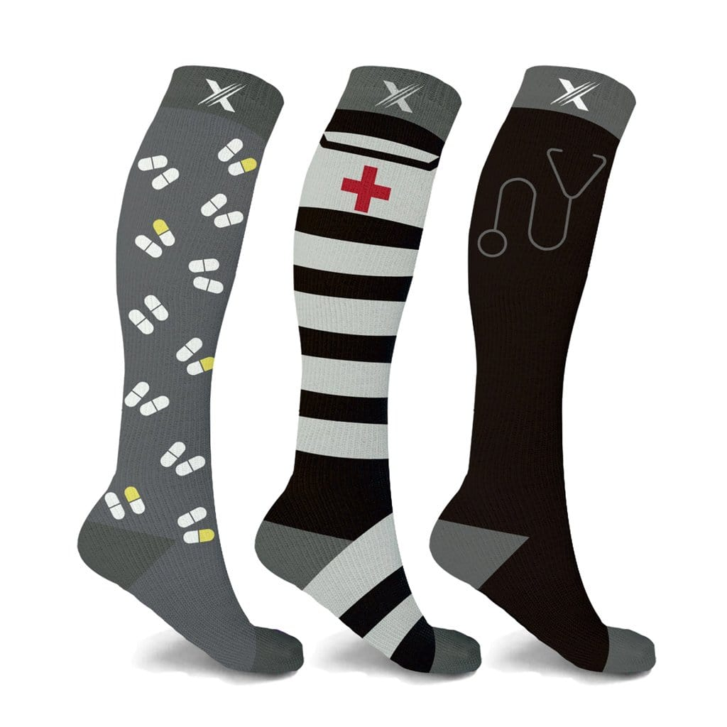 MEDICINE 101 COMPRESSION SOCKS (3-PAIRS)