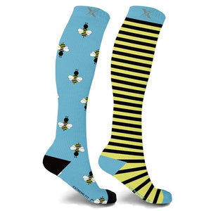 mmV1 BEES IN THE TRAP COMPRESSION SOCKS